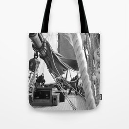 ...when boats were made of Wood and Men were made of Steel Tote Bag