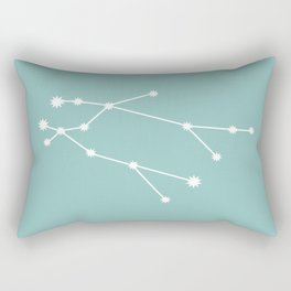 Gemini Zodiac Constellation - Teal Rectangular Pillow