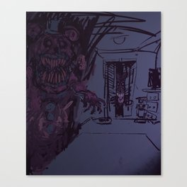 Nightmare Fredbear Canvas Print