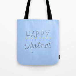 HAPPY whatnot - blue Tote Bag