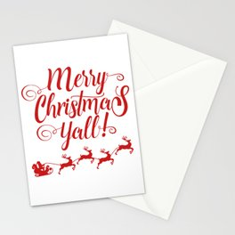 MERRY CHRISTMAS YALL Stationery Cards