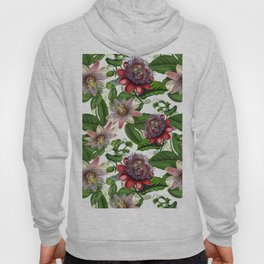 Vintage & Shabby Chic- Retro Passiflora Pattern Hoody