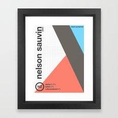 nelson sauvin//single hop Framed Art Print