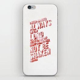 NOT SHAKEN iPhone Skin