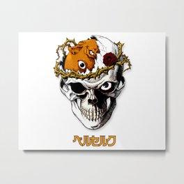 Skull Knight Metal Print