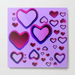 Transparent Heart Metal Print
