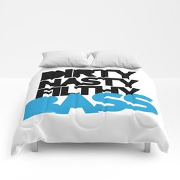 Dirty Bass Music Quote Comforters
