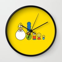 simpsons Wall Clocks featuring the simpsons family by NHTT
