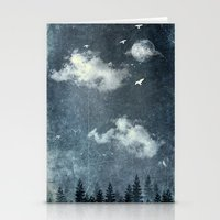 cloud Stationery Cards featuring The cloud stealers by HappyMelvin