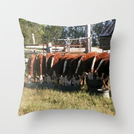 All Lined Up. Throw Pillow
