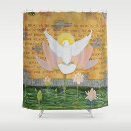 """Rejoice"" Shower Curtain"