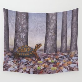 eastern box turtle in the forest Wall Tapestry