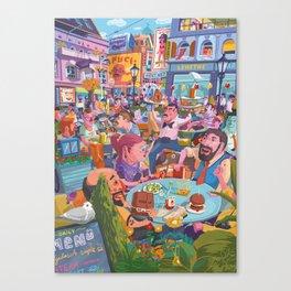 Terace BP soft colors Canvas Print