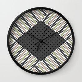 Set of 3 striped Wall Clock