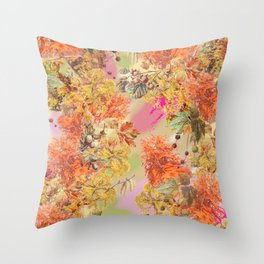 AUTUMN IN THE PARK - Botanical Collage Throw Pillow
