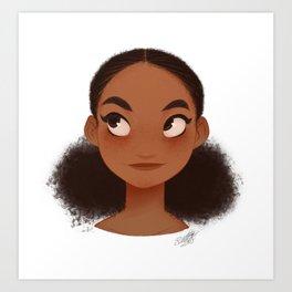 FLUFFY BUNS Dominican Girl Art Print
