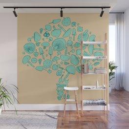 Fungi V2 Vintage Mushroom Pattern Wall Mural