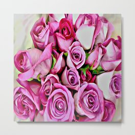 Pretty In Pink Roses Metal Print