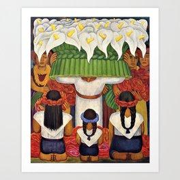 Flower Festival No. 2 - Feast of Santa Anita by Diego Rivera Art Print