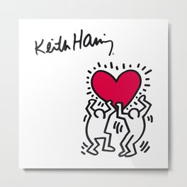 Keith Allen Haring Shirt Metal Print