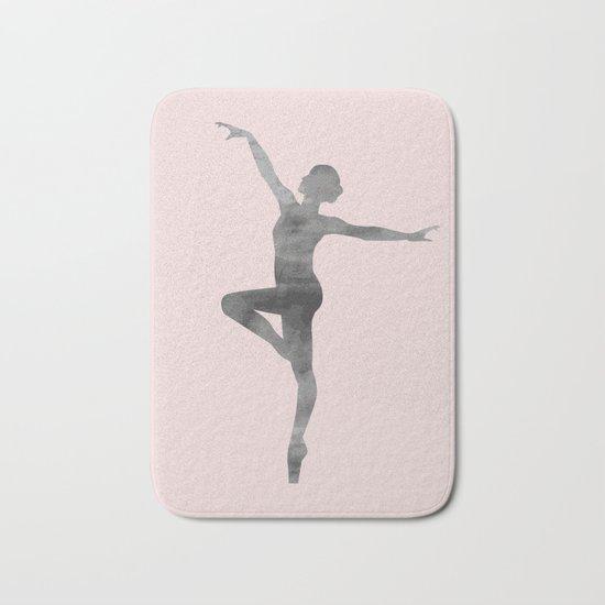 ballerina ballet wall art Bath Mat