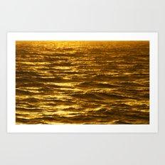 Gold Ocean Art Print