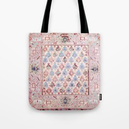 North Indian Dhurrie Kilim Print Tote Bag