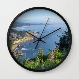 Otter Rock, Oregon from Cape Foulweather Vantage Point Wall Clock