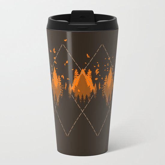 Tradicional Nature Pattern Travel Mug