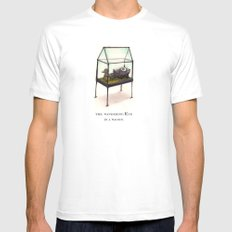 the wandering Eye in a wagon White MEDIUM Mens Fitted Tee