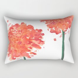 2 abstract geranium flowers Rectangular Pillow