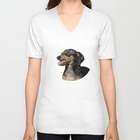 scully V-neck T-shirts featuring Classic Scully by Ben Goetting