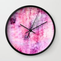 icecream Wall Clocks featuring Blueberry icecream by ilyianne