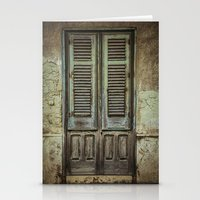 italian Stationery Cards featuring Italian Door III by Maria Heyens