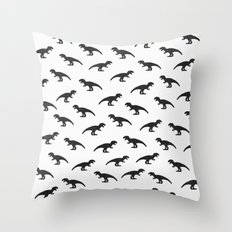 T-Rex Pattern Throw Pillow