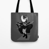 merlin Tote Bags featuring Merlin Monroe by sayahelmi
