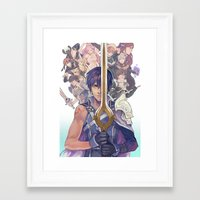 fire emblem awakening Framed Art Prints featuring Fire emblem awakening by KEL H