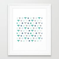 planes Framed Art Prints featuring Planes by chantae