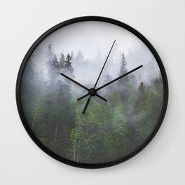 Into the Fog II Wall Clock