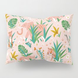Endangered Wilderness - Blush Pink Pillow Sham