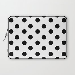 White & Black Polka Dots Laptop Sleeve