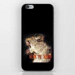 I am Woman Hear me Roar iPhone Skin