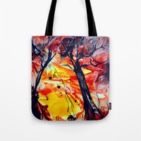 sunrise Tote Bags featuring SunRise by ART de Luna