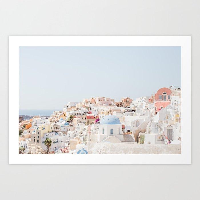 Santorini Vista Kunstdrucke