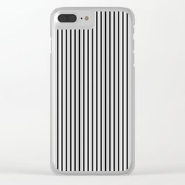 Black and White Princess Elizabeth Regal Stripe Clear iPhone Case