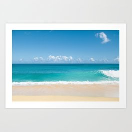 Turquoise wave Art Print