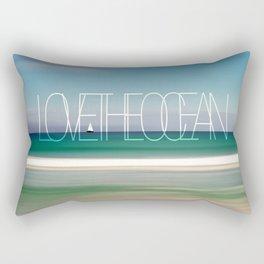 LOVE THE OCEAN II Rectangular Pillow