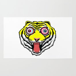 Psychedelic Tiger Eyes by Hello Banana Rug