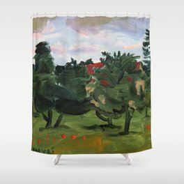 """Pumpuri"" Shower Curtain"