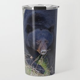 Black bear popping in Travel Mug